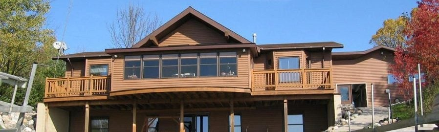 Black Lake Front View, Michigan lakehouse rentals