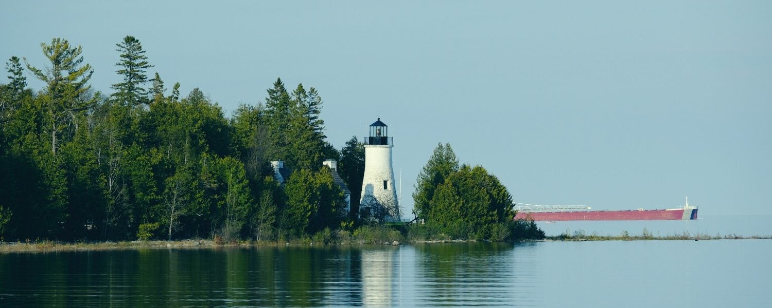 Old Presque Lighthouse on Lake Huron