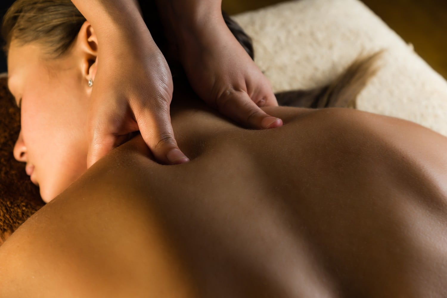 person receiving a massage