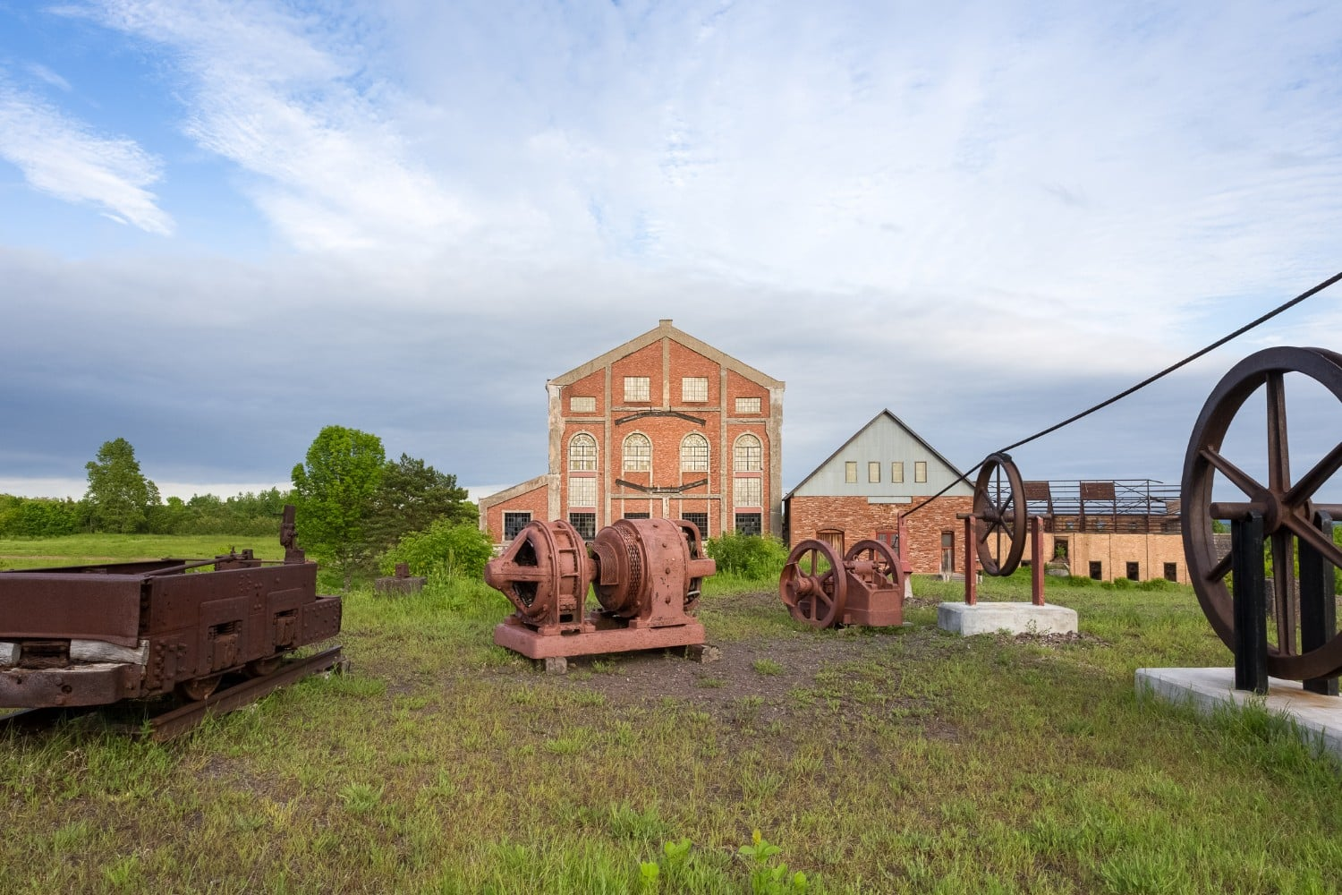 old mining equipment at Quincy Mine