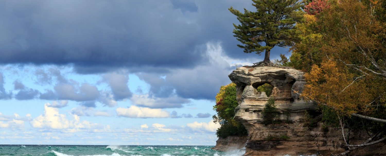 Rocky shore of Lake Superior