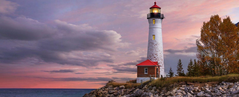 Michigan Lighthouse at dusk